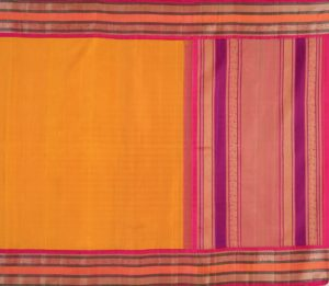 Kanjivaram Silk Saree in Mustard with Korvai Border