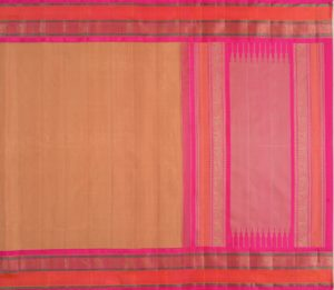 Kanjivaram Silk Saree in Beige with Korvai Border