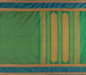 Kanchi Silkcotton Saree in Green