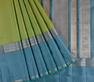 Kanjivaram Silk Saree in Nylon Green