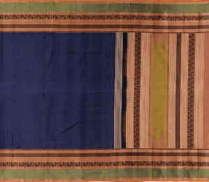 Kanjivaram Silk Saree in Navy Blue