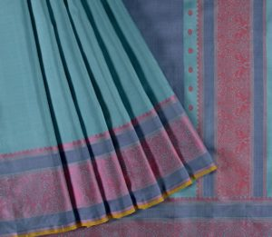 Kanjivaram Silk Saree in Aqua Blue