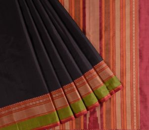 Kanjivaram Silk Saree in Black5