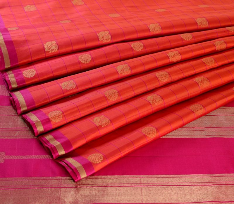 Kanjivaram Silk Saree in Peach