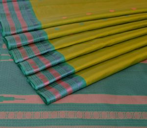 Kanjivaram silk saree in pista green