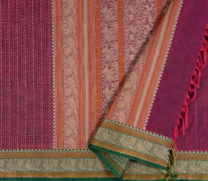 Kanchi Cotton Saree in Purple