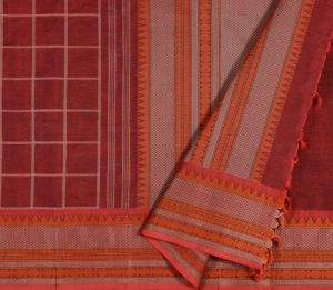 Kanchi Cotton Saree in Arakku