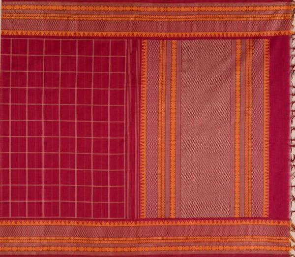 Kanchi Cotton Saree in Maroon
