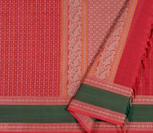 Kanchi Cotton Saree in Red