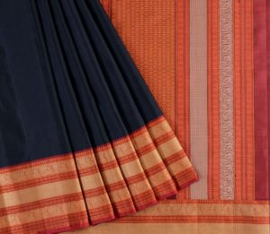 Kanjivaram Silk Saree in Black