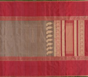 Kanjivaram Silk Saree in Grey