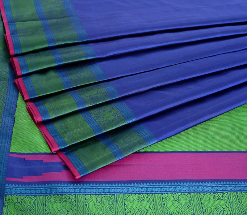 Kanjivaram Silk Saree in Royal Blue
