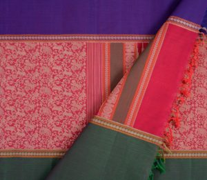 Kanchi cotton saree in maroon