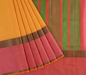 Kanjivaram Silk Saree in Yellow