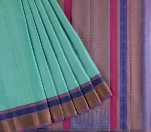 Kanjivaram Silk Saree in Aqua Green