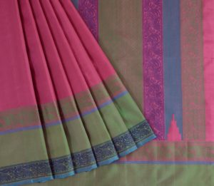 Kanjivaram Silk Saree in Powder Pink
