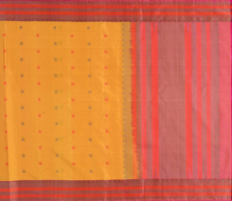 Kanjivaram Silk Saree in Yellow