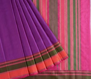 Kanjivaram Silk Saree in Purple
