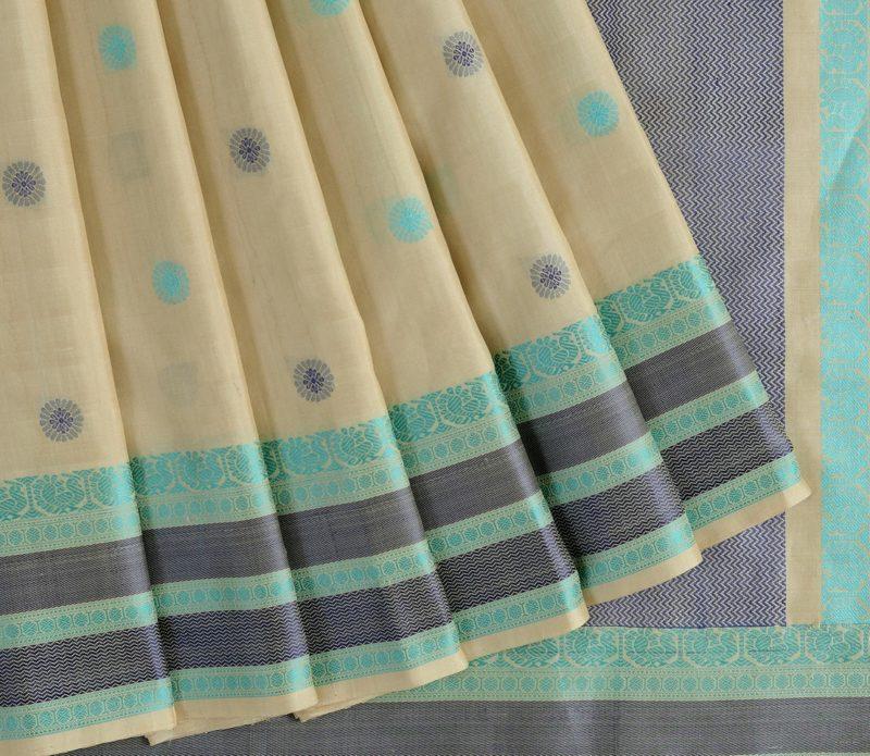 Kanjivaram Silk Saree in Off-White