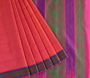 Kanjivaram Silk Saree in Pink