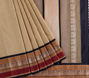 Kanjivaram Silk Saree in Cardamom Green