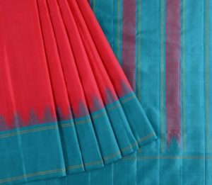 Kanjivaram Silk Saree in Tomato Red