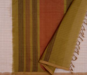 Kanchi Silkcotton Saree in Off-White