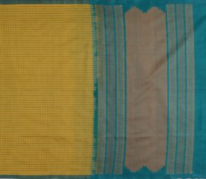 Kanchi Silkcotton in Olive Green