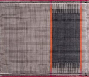 Kanchi Cotton Saree in Grey