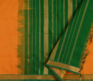 Kanchi Silkcotton Saree in Mustard