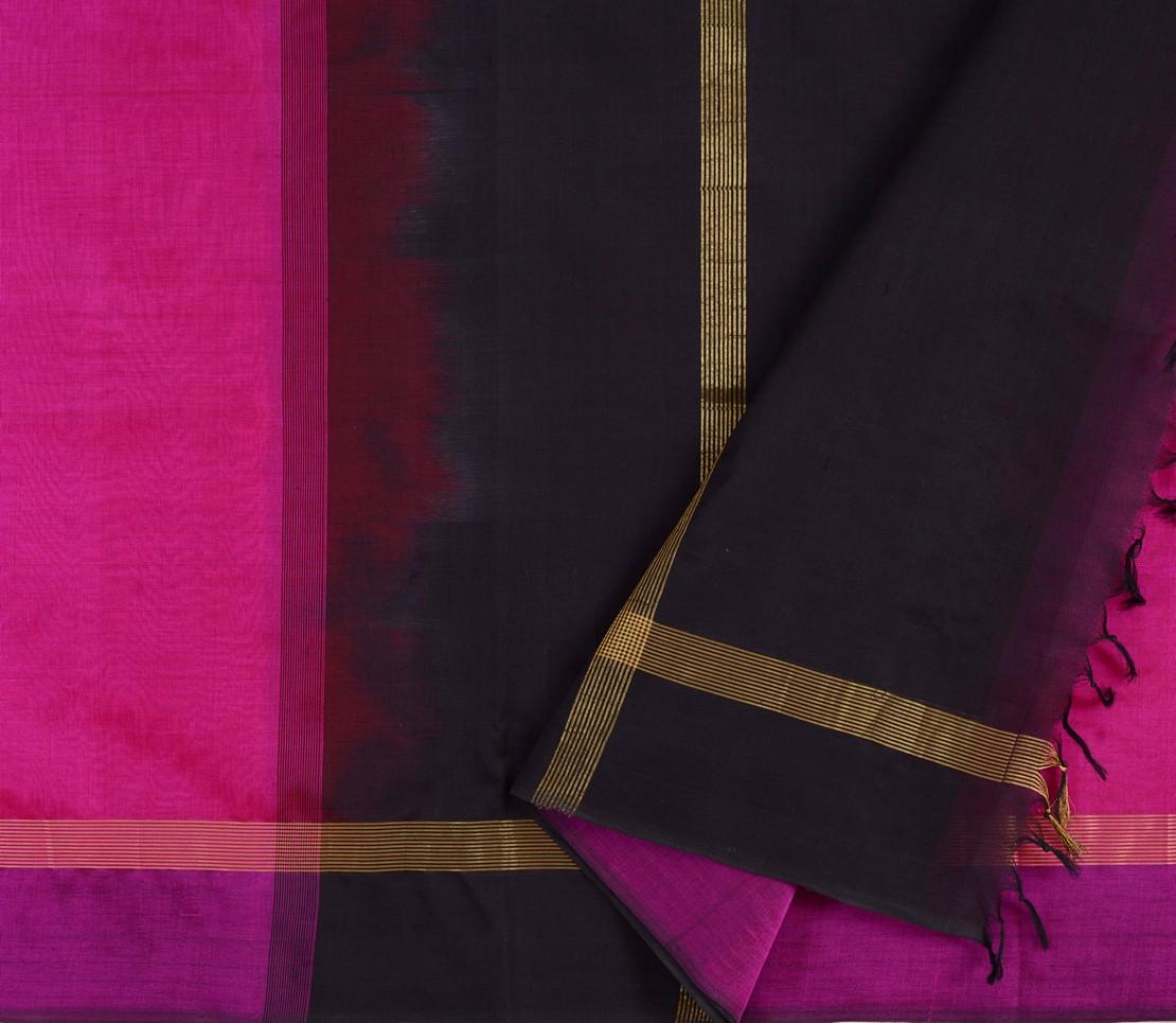 Kanchi Silkcotton Saree in Rani pink