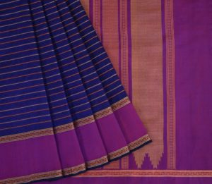 Kanchi Silkcotton Saree in Purplish Blue