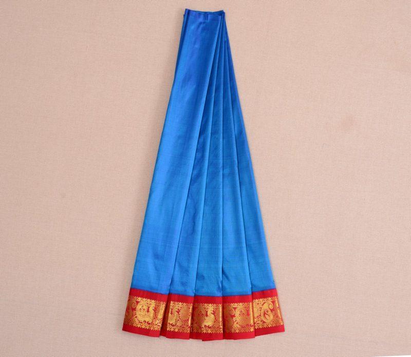 Silk Pavadai in Peacock Blue