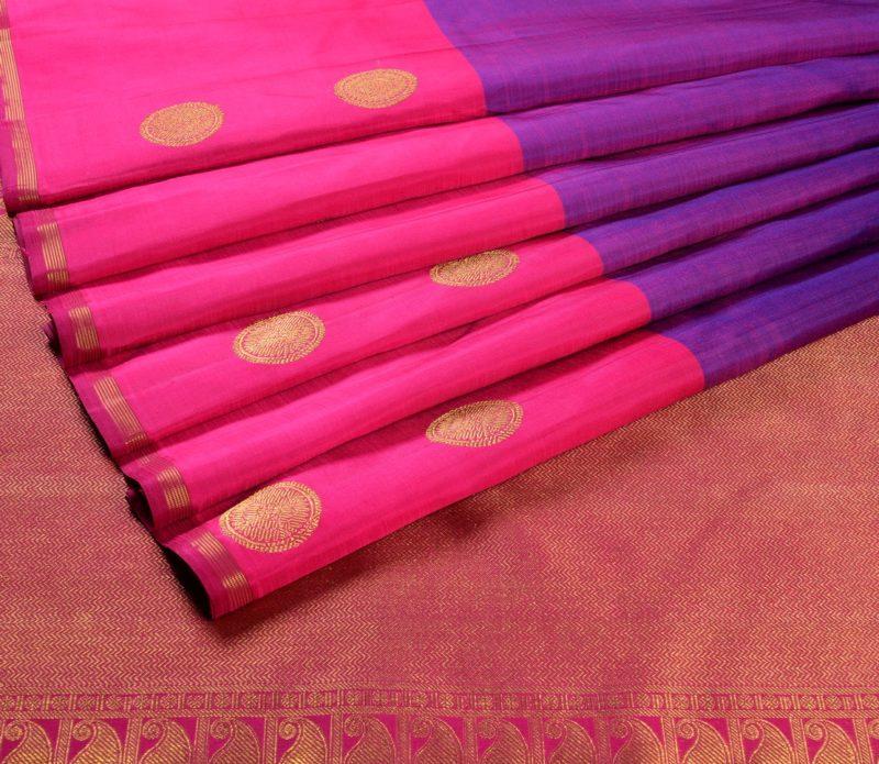 68119003 - Kanjivaram silk saree in violet