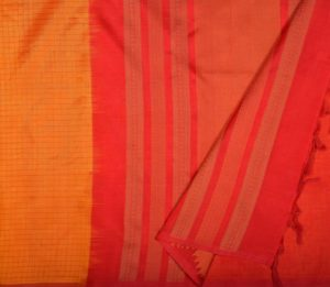 Kanchi Silkcotton Saree Yellow