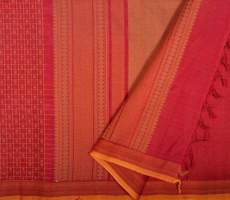 Kanchi Silkcotton Saree Maroon