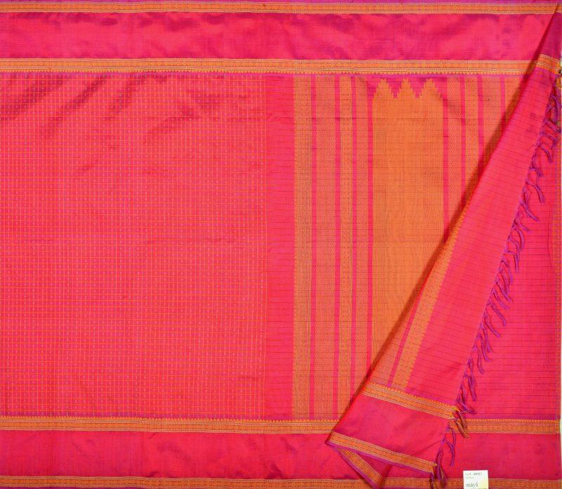 Kanchi Silkcotton Saree Pink
