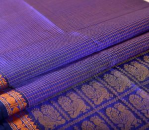 Kanchi Silkcotton Saree Blue