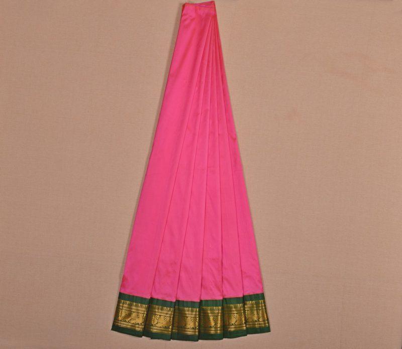 Kanjivaram silk pavadai in pink
