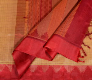 Kanchi Silkcotton Saree Beige Silk Border
