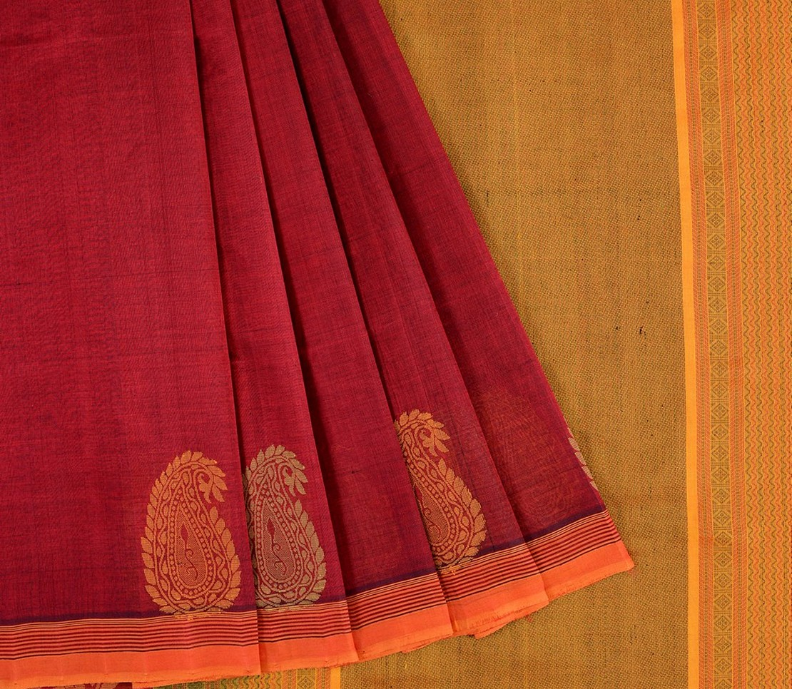 Kanchi Silkcotton Saree in Arakku
