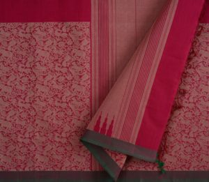 Kanchi Cotton Saree in Pink with Vanasingaram