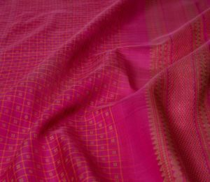 kanjivaram silk cotton saree pink lakshadeepam