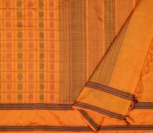 Kanchi Silkcotton Saree in Mustard 9752083