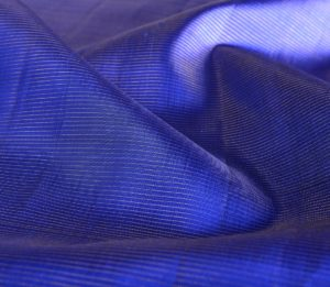silk yardage in blue with vaira oosi