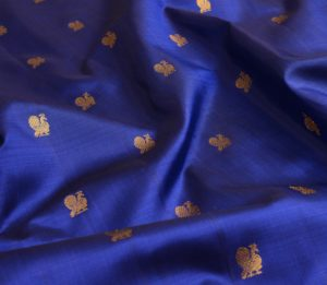 Kanchi Silk Yardage in Dark Blue