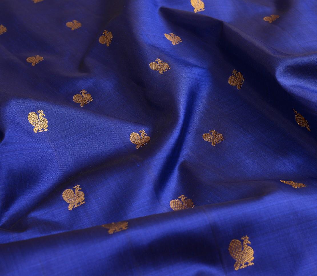 Kanchi Silk Yardage in Dark Blue