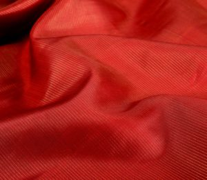 silk yardage in red with vaira oosi