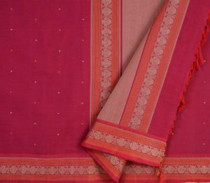 Kanchi Cotton Saree in Dark Pink