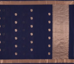 Kanchi Cotton Saree in Navy Blue